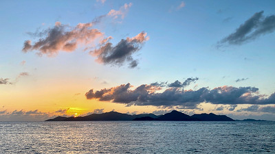 Sunset over Praslin Island