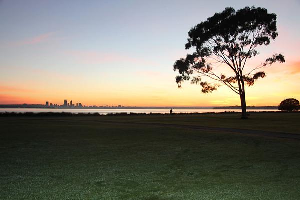Sunrise over the Swan River - June 23rd 2012