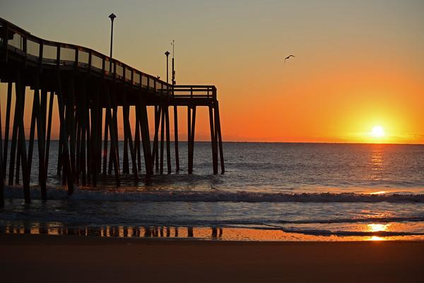Sunrise awakens Ocean City Beach