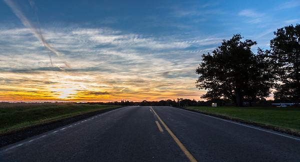 sunrise on Schutt Road, Canandaigua