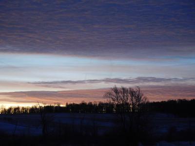 Blue Moon Sunrise, Clouds no moon