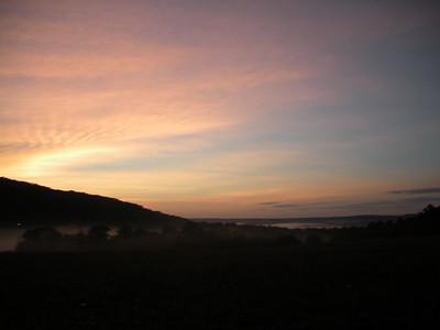 June 18, Fog and Sunrise