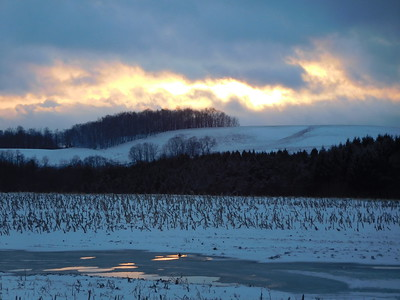 March 13 Sunset, Snow and Clouds