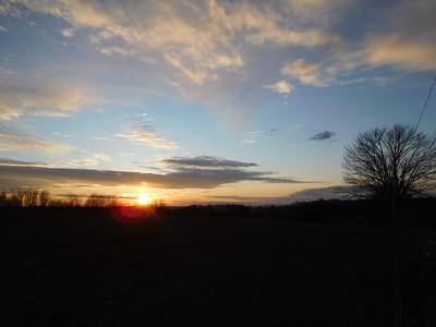Sunset Along Chickentown Road 12-11