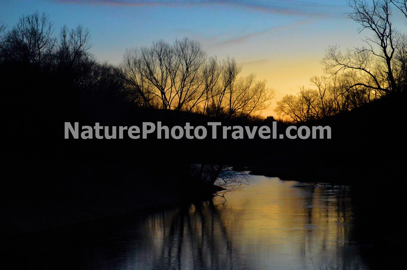 Sunset on Jordon Creek, N. Whitehall Twp, PA - 2