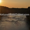 Sunset on the James River. Photo taken from the Auto Train.