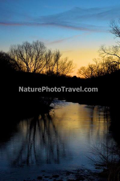 Sunset on Jordon Creek, N. Whitehall Twp, PA