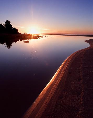 Summer Sunrise - Mouth of the Rock River, Naubinway, Michigan