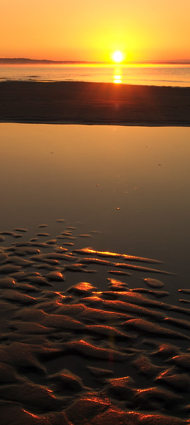 Reflections in a Lake Michigan Sandbar