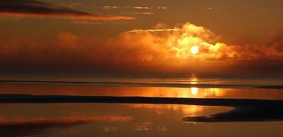 Sunrise and Sandbars - Lake Michigan's Northernmost shoreline.