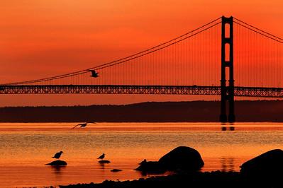 Morning Light - Mackinac Bridge