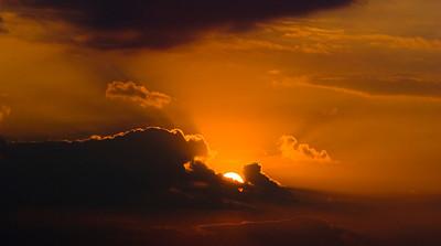 A Dramatic Autumn Sunrise over Lake Michigan