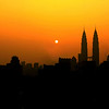 Sunrise at Twin towers, KL