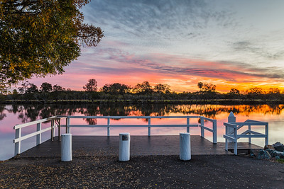 Sunset at Wallamba River Wharf