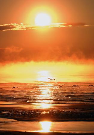 Autumn Sunrise on Lake Michigan