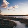 sunset over cherokee marsh