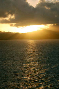 Sunrise arriving in St Lucia onboard Serenade of the Seas, 11/22/06