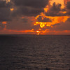 Sunset on Freedom of the Seas somewhere off the east coast of Haiti 04/15/11