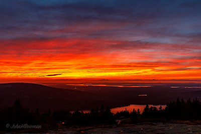 Afterglow, Sunset +19 Minutes, 9/20 - Blue Hill Overlook, Acadia NP