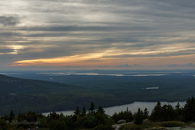 Sunset -23 Minutes, 9/20 - Blue Hill Overlook, Acadia NP