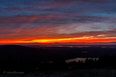 Afterglow, Sunset +24 Minutes, 9/20 - Blue Hill Overlook, Acadia NP