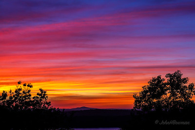 Afterglow, Sunset +22 Minutes, 9/21 - Eagle Lake Overlook, Acadia NP