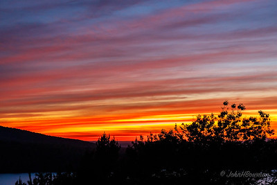 Afterglow, Sunset +29 Minutes, 9/21 - Eagle Lake Overlook, Acadia NP