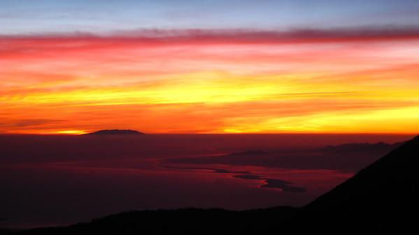 Sunrise on the peak of Mt. Rinjani — Lombok, Indonesia