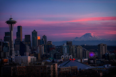 Seattle Skyline Sunset from Kerry Park 1-26-15