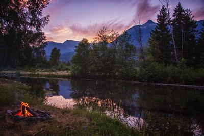 Sunset Campfire
