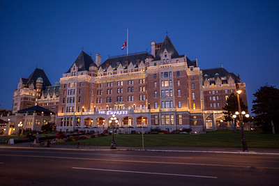 The Empress Hotel By Night