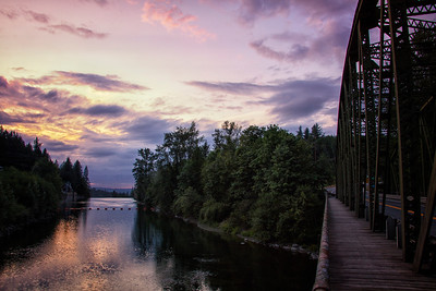 Snoqualmie River - Hwy 202 Bridge Sunset