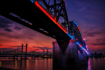 Ohio River Bridge Sunset