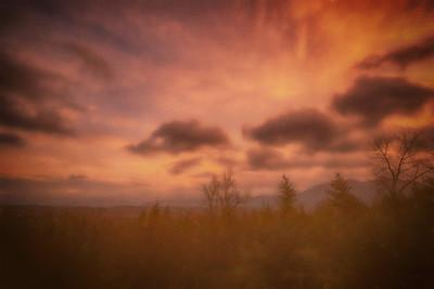 Winter Sunrise Cascades Overlook Monet Effect HDR 1-19-19