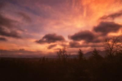 Winter Sunrise Cascades Overlook Monet Effect 1-19-19