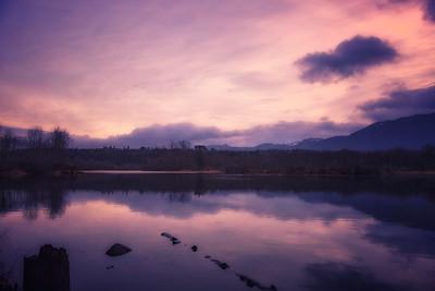 Borst Lake West End Winter Sunrise Warm 1-19-19