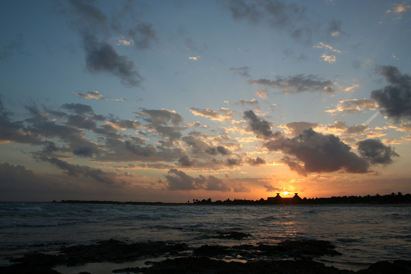Sunset in the Riviera Maya