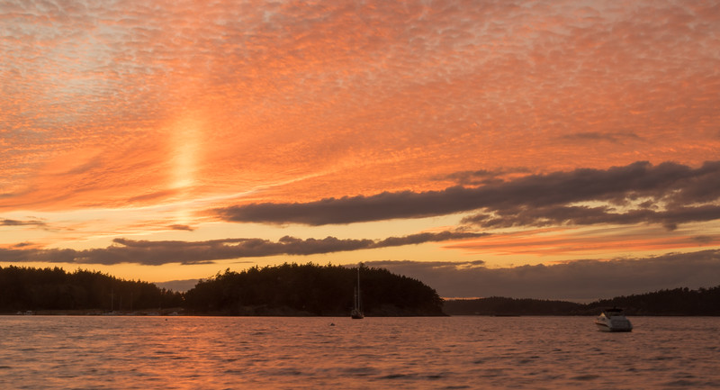 Sunset from Lopez Island, San Juan Islands