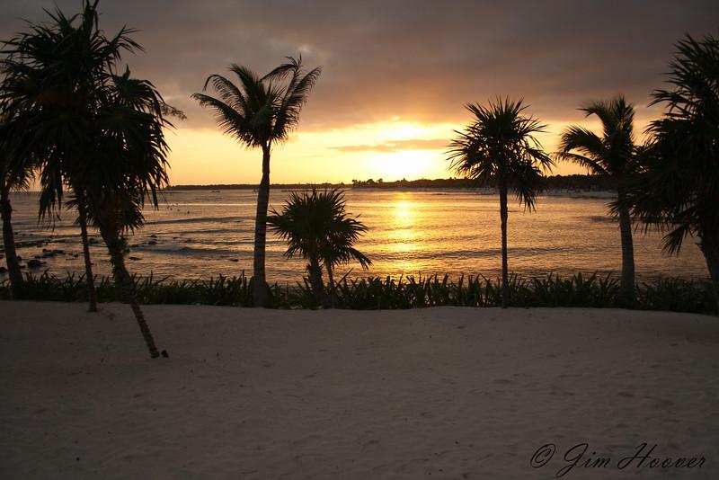 Sunset in Mayan Riviera