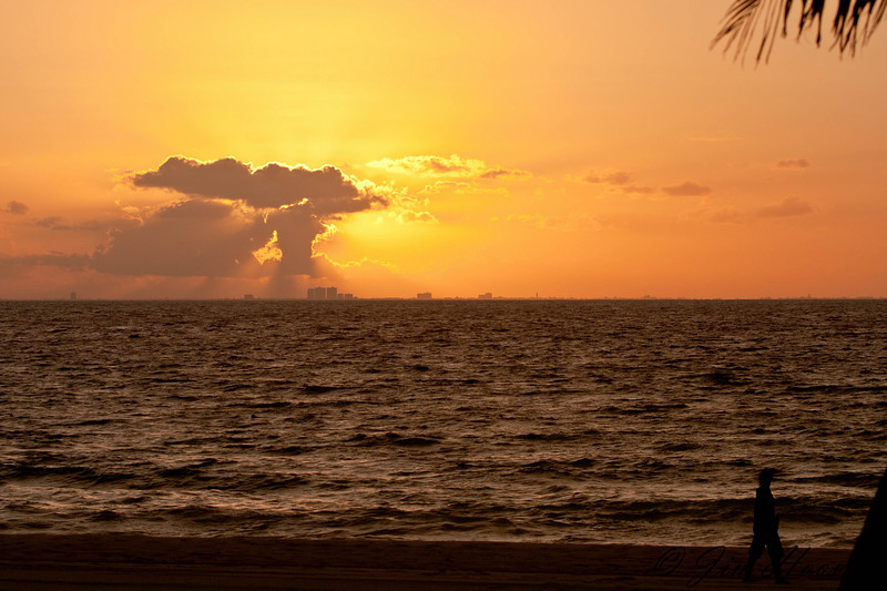 Sunrise over Cozumel from Playacar