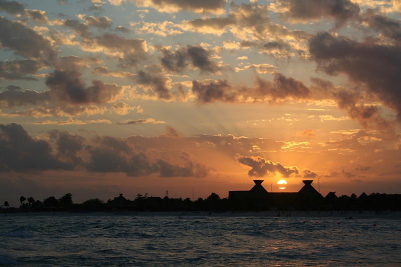 Sunset in the Riviera Maya