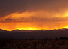 Monsoon rains at Sunset from Madera Canyon