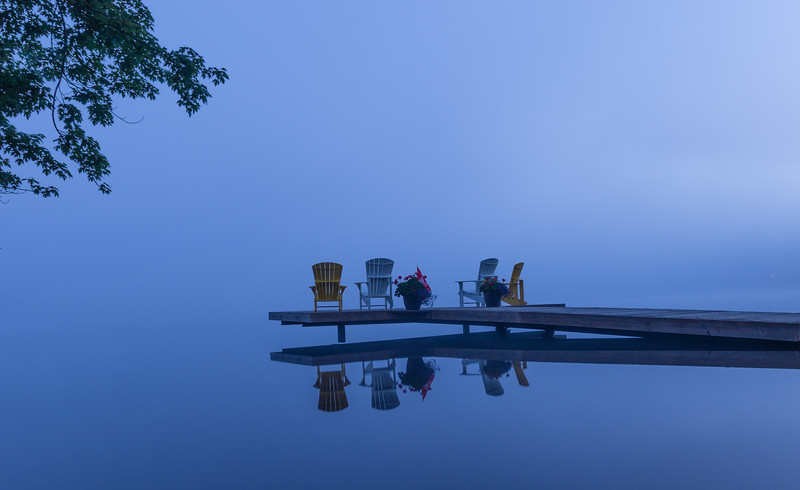 Just before sunrise at Fairy Lake, Ontario