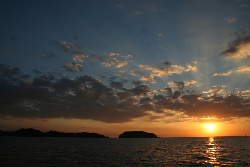 Sunset off Playa Conchal, Costa Rica