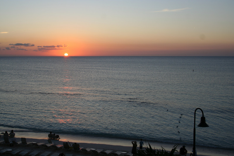 Sunset in the Grand Caymans
