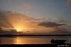 Sunrise from Bird's Eye View Lodge across Crooked Tree Wildlife Sanctuary<br /> Belize