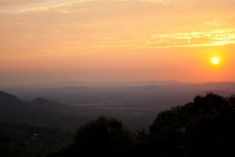 Sunrise from Rockfish Gap, VA