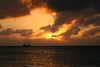 Sunset from 7 Mile Beach on Grand Cayman Island