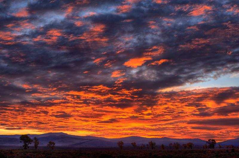 Sunrise Over Gros Ventre, Grand Teton National Park, Wyoming