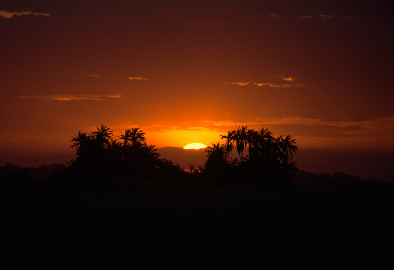 Sunset in Amboseli National Park, Kenya, East Africa